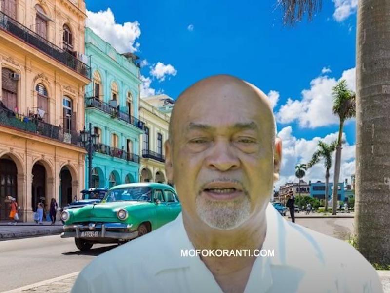 Bouterse naar Cuba vertrokken